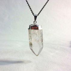 Raw Quartz Pendant Necklace Raw crystal point by AtelierYumi