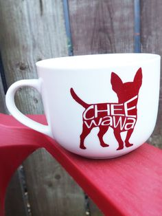 Cheewawa mug - Chihuahua, pet parent, ceramic mug, handmade Chihuahua, Ceramics, Mugs, Unique Jewelry, Tableware, Handmade Gifts, Etsy, Vintage, Ceramica