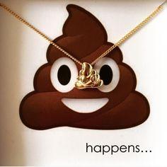 Squishy Emoji Poo Poop Daddy man Gift Boy Girl fun message Happens!