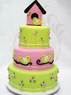 Bird House cake - Caketutes Cake Designer: bolo Casa de Passarinho