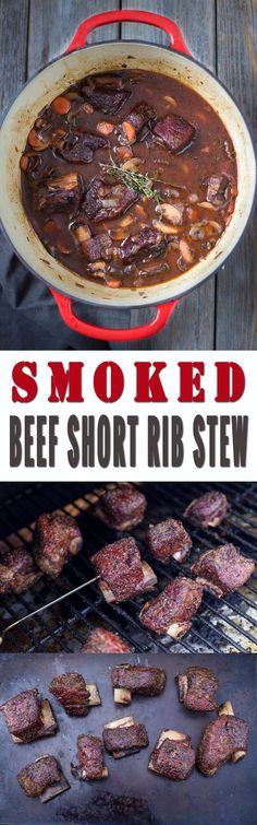 Smoked Beef Short Rib Stew. How to smoke short ribs and incorporate them into an incredible, rich, and comforting stew. Comes with wine pairing recommendations.