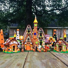 """Bricker Parker's Instagram profile post: """"Getting inspired and motivated for some holiday builds. This is my Halloween gingerbread house from last year with a small forest and…"""" Halloween Gingerbread House, Lego Halloween, Lego House, Profile, Christmas Ornaments, Inspired, Holiday Decor, Building, Instagram"""