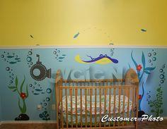 Children Wall Decals Underwater Theme with Ray von evgieNev auf Etsy, $119.00