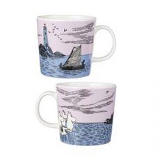 Night Sailing Mug - Moomin Moomin Mugs, Typo Design, Tove Jansson, Cute Kitchen, Tea Cozy, Porcelain Mugs, Clay Creations, Finland, Illustration Art