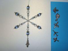 Air Travel snowflake ornament / suncatcher / light catcher