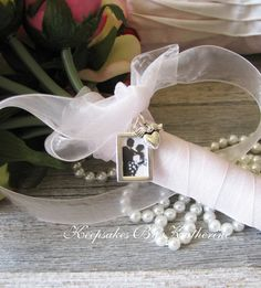 Bridal Bouquet Charm ,Silver Frame made to order by Keepsakes By Katherine