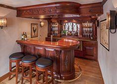 Mini bares Pub Design, House Design, Arte Bar, Building A Home Bar, Small Bars For Home, Armoire Bar, Basement Bar Plans, Home Pub, Basement Inspiration