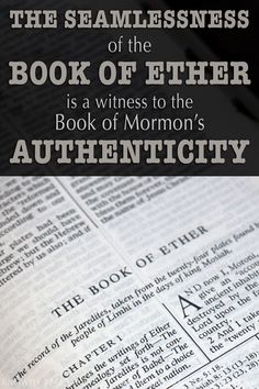 Why Did Moroni Comment So Much Throughout Ether? Book Of Mormon Scriptures, Book Of Mormon Stories, Lds Books, Scripture Reading, Scripture Study, Mormon Messages, Religion, Lds Church, The Book