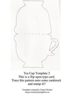 Taza de té. Tarjeta. tea cup card