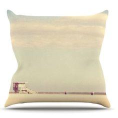 KESS InHouse Toffee Marshmallow by Myan Soffia Sandy Beach Throw Pillow Size: