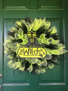 Halloween Wreath Halloween Decor Door Wreath by FunWithWreaths