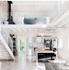 Loft ideas, open urban space | http://homechanneltv.com/ #lofts #urban designs