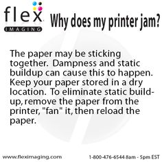Paper Jam?   http://www.fleximaging.com