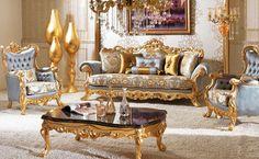 Classic Sofa Sets - Luxury Seat Models - Turkish Sofa Sets Turkish Furniture, Royal Furniture, Victorian Furniture, Classic Furniture, Luxury Furniture, Vintage Furniture, Furniture Decor, Furniture Online, Wooden Furniture