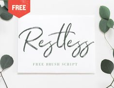 """Check out this @Behance project: """"RESTLESS - FREE BRUSH SCRIPT"""" https://www.behance.net/gallery/63704169/RESTLESS-FREE-BRUSH-SCRIPT #freebies #font #typography"""