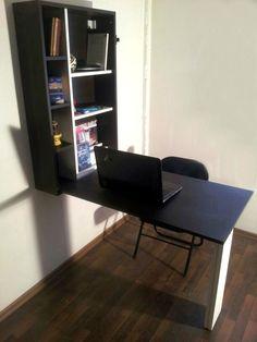 escritorio rebatible con espacio de guardado $1550