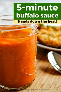 This easy and spicy buffalo sauce is made with Frank& red hot. It& super simple and can be made in just 5 minutes. It& perfect for as a wing sauce or a hot dipping sauce. Dipping Sauces For Chicken, Chicken Wing Sauces, Sauce For Chicken, Chicken Wing Recipes, Chicken Wings, Easy Homemade Buffalo Sauce, Homemade Sauce, Buffalo Chicken Sauce, Vegan Buffalo Sauce