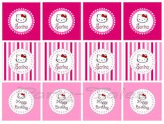 Print! Party-Tales: ~ Party Printable ~ HELLO KITTY Party circles {Cupcake toppers, favor tags} Free download