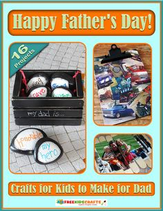 Happy Father's Day! Crafts for Kids to Make for Dad | AllFreeKidsCrafts.com...list of 16 amazing Father's Day crafts for kids to make, there will be at least one that is perfect for him.