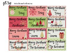 Printable Holiday Gift Tags  Instant Download by SweetFridaysChild, $4.00