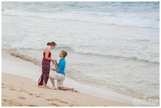 Maui engagement portraits of a beach proposal in Maui, Hawaii