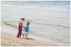 Maui engagement portraits of a beach proposal in Maui, Hawaii