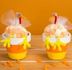 Candy Corn Turkey Treat Favors