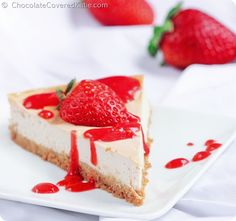 Raw vegan cheesecake- If you've never tried making a raw cheesecake, this deliciously creamy Paleo Dessert, Raw Vegan Desserts, Dessert Blog, Vegan Sweets, Healthy Sweets, Healthy Dessert Recipes, Raw Food Recipes, Healthy Cake, Cashew Cheesecake