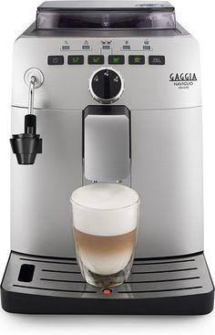 Gaggia Naviglio  Gaggia Naviglio: Luxe Italiaanse koffiemachine met cappuccinofunctie Met de nieuwe Gaggia Naviglio kun je genieten van de perfecte Italiaanse espresso gemaakt zoals in een bar in Italië.Één druk op de knop zorgt er voor dat de beste espresso in jouw kopje beland. De 100% keramische maalschijven zijn verstelbaar in vijf standen zijn muisstil en hebben een lange levensduur. En de Gaggia Naviglio heeft een Quick Heat boiler je hoeft dus niet meer te wachten tussen twee…