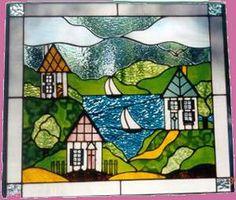 stained glass houses   stained glass houses and sailboats