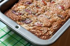 Cherry, Banana, Coconut Butter Bread - This will make your mouth water!