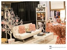 My booth at the Southern Bridal Show Booth    Could use my new throw pillows here!
