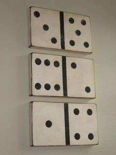 How to make oversized vintage dominos