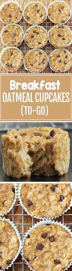 Breakfast Oatmeal Cupcakes - You cook just ONCE and get a delicious breakfast for the entire month - Easy & nutritious recipe: https://chocolatecoveredkatie.com/2013/01/08/breakfast-oatmeal-cupcakes-to-go/ @choccoveredkt