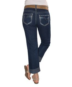Loving this Blue San Juan Boyfriend Jeans - Short Too on #zulily! #zulilyfinds