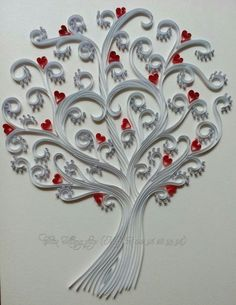©Chau Khang - Quilled heart pictures