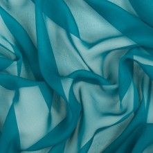 Deep Teal Silk Chiffon so pretty...