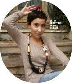 URBAN BARROCO! one 'HAUTE-COUTURE'  necklace inspired in 'Dolce & Gabbana' style.