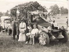 Hicks Dairy's delivery truck from the Shirley Carnival, at the Park, c.1930