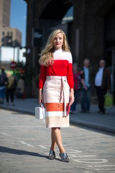 Kate Foley | Striped! | LFW15 | Street snap | 150922