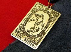 Amulet  Tarot Card The World  21 Tarot