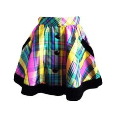 David Fielden Rainbow Tartan Velvet Skirt 1990 | From a collection of rare vintage skirts at http://www.1stdibs.com/fashion/clothing/skirts/