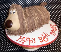 It's Dougal from The Magic Roundabout cake!