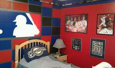 MLB baseball bedroom 2