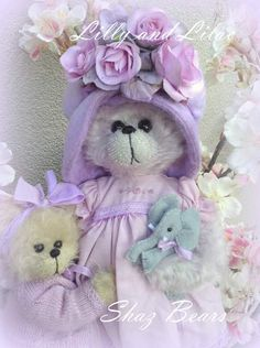 Violet and Lilac by Shaz Bears...DELIGHTFUL