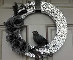 Like the crow, flowers, feathers, but not the fabric... eww