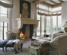 Knock your socks off nice...love the ratan and wicker, oversized books on mantel.