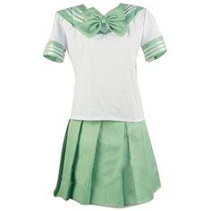 Nuoqi Japanese School Girl's Sweet Sailor Lolita Dress School Uniforms ($14) ❤ liked on Polyvore featuring dresses, uniform, cosplay and random