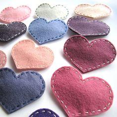 Handmade Felt Love Heart Hair Slide  ice blue by ilovehearts, £3.99