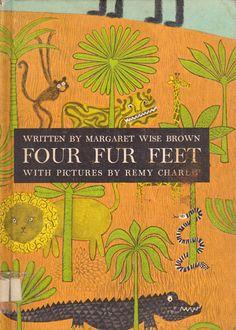mi colección de libro de la vendimia (en forma de blog) .: Cuatro piel pies - ilustrado por Remy Charlip